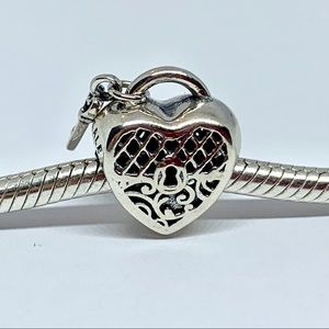 Pandora Love You Heart Padlock Charm